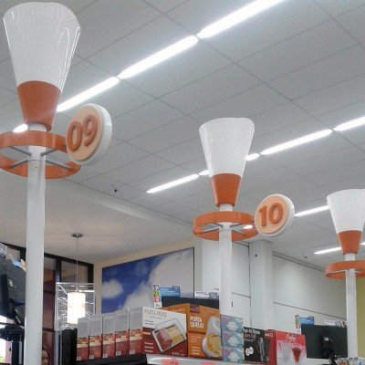 Decoração de caixas de supermercado - Savegnago