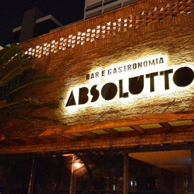 Letra-caixa metálica com LED com iluminação indireta - Bar Absoluto - Ribeirão Preto