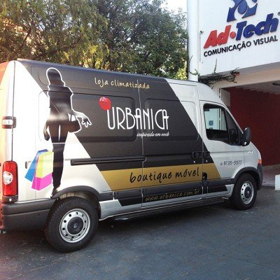 Adesivagem de Van - boutique móvel