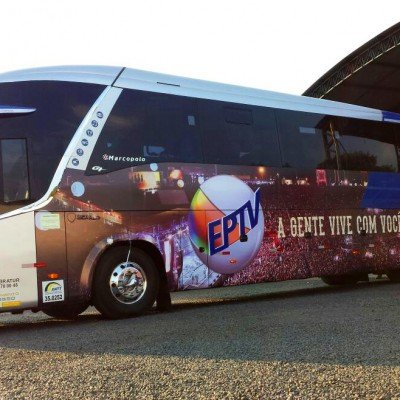 Adesivagem de ônibus - EPTV