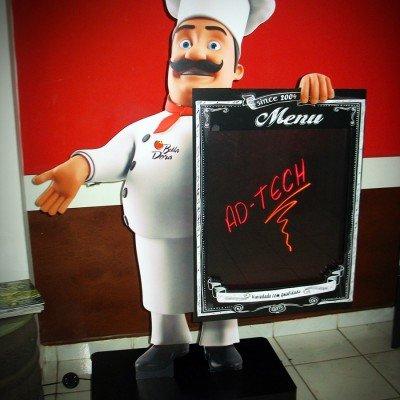 Display para menu de restaurante