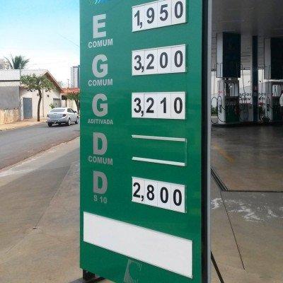 Totem display para preços - posto de combustíveis