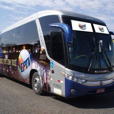 Envelopamento de ônibus EPTV