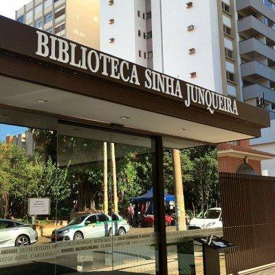 Letra-caixa para fachada da Biblioteca Sinhá Junqueira